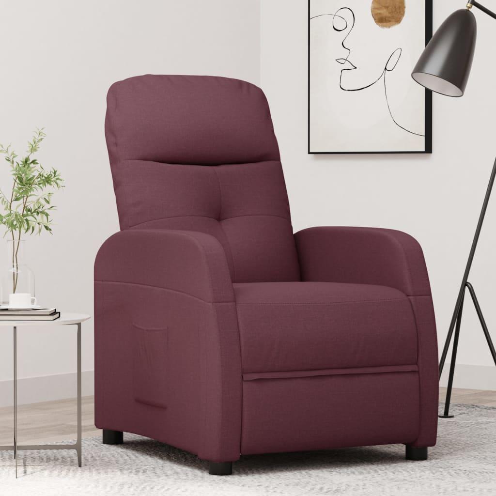vidaXL Fotoliu rabatabil, violet, material textil imagine vidaxl.ro