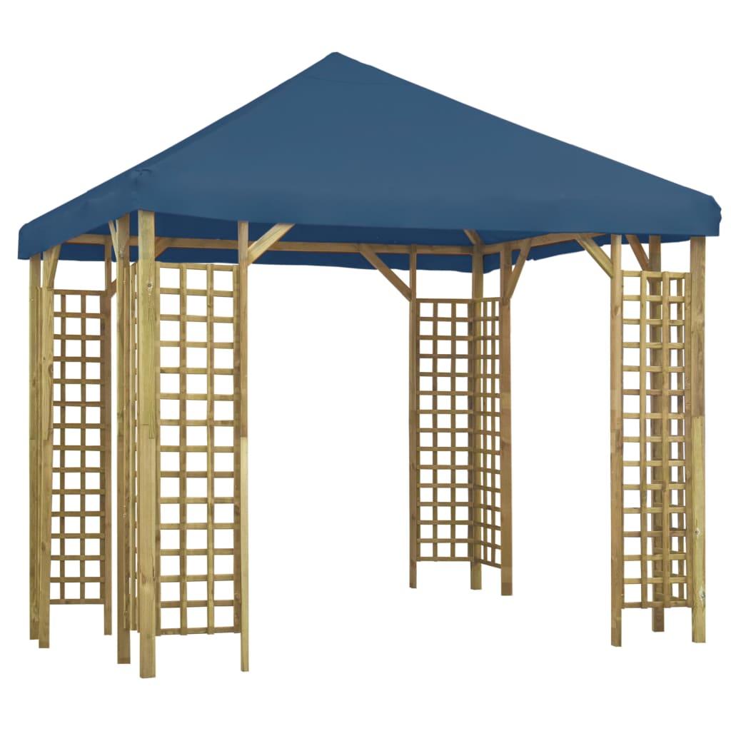 vidaXL Pavilion, albastru, 3 x 3 m (310032+47712) imagine vidaxl.ro