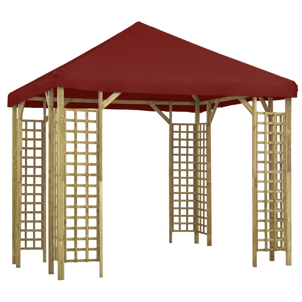 vidaXL Pavilion, roșu bordo, 3 x 3 m (310032 + 46620) poza vidaxl.ro