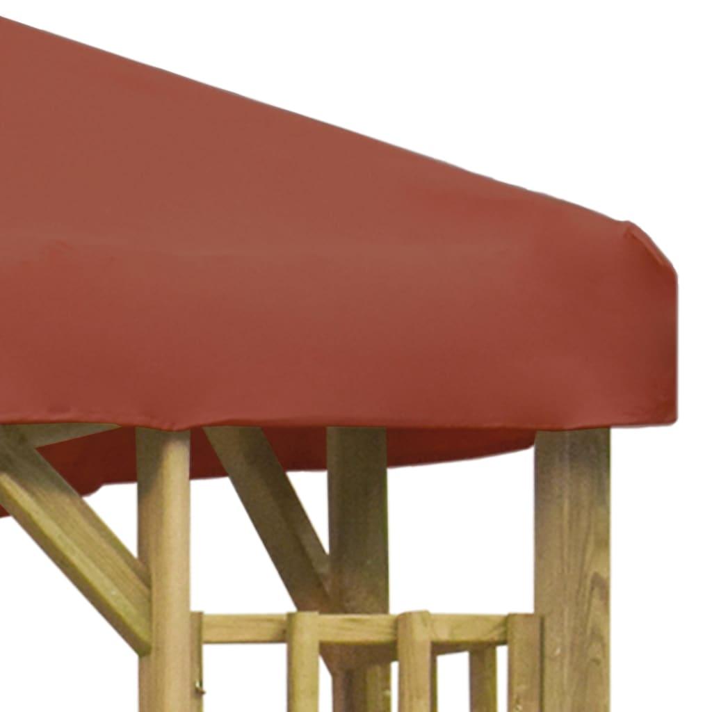 Prieel 3x3 m terracotta