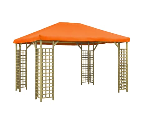 vidaXL Prieel 4x3 m oranje