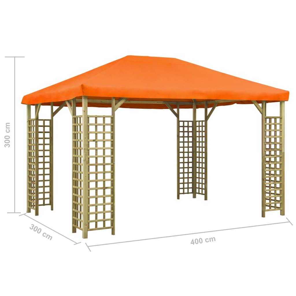 Prieel 4x3 m oranje