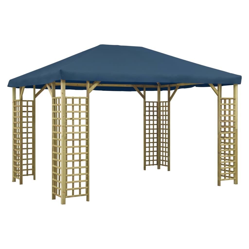 vidaXL Pavilion, albastru, 4 x 3 m (310033+47718) imagine vidaxl.ro