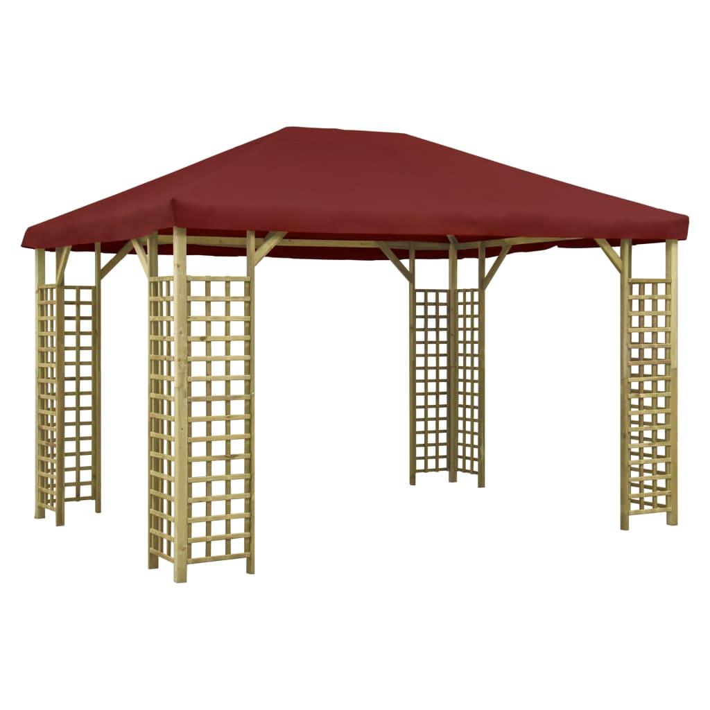 vidaXL Pavilion, roșu bordo, 4 x 3 m (310033+46624) poza 2021 vidaXL