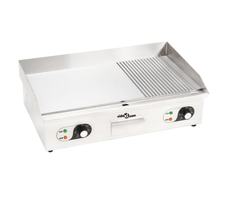 vidaXL Electric Griddle Stainless Steel 4400 W 73x51x23 cm