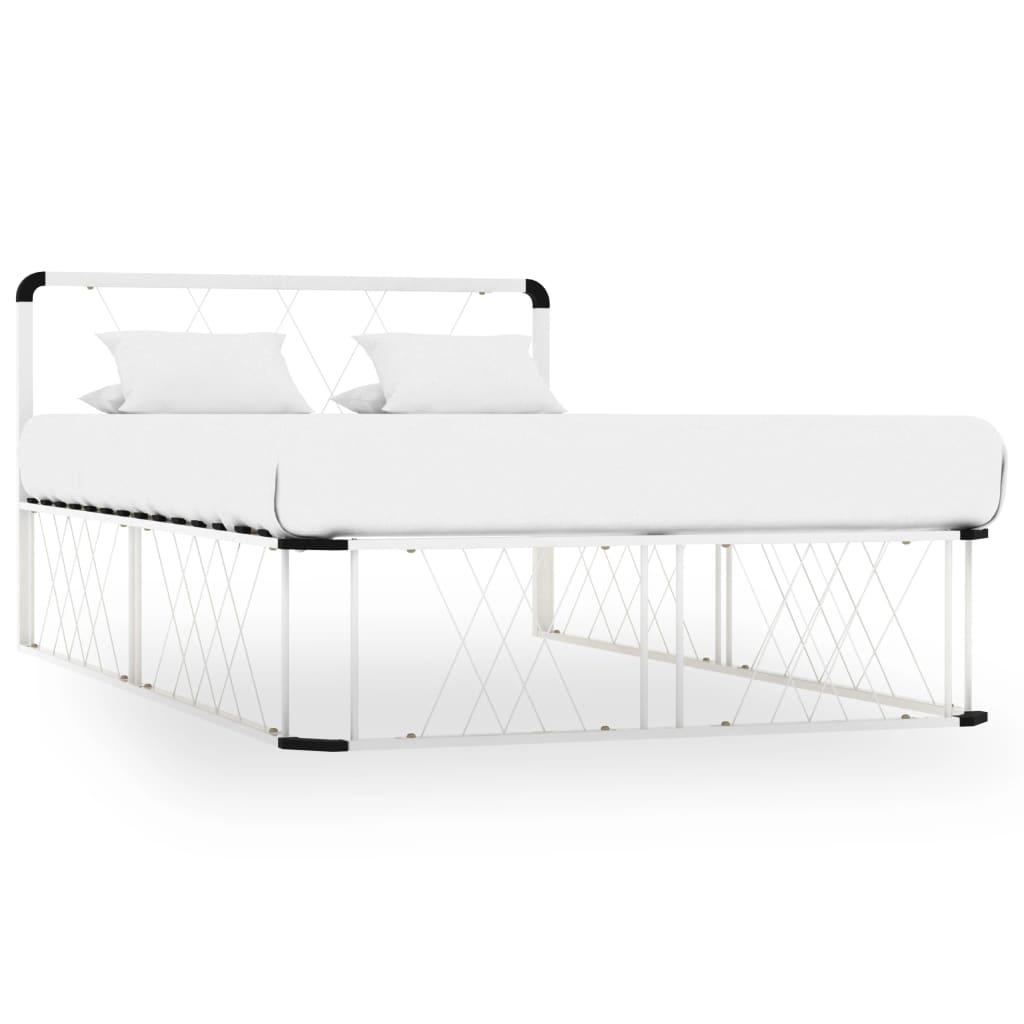vidaXL sengestel 120×200 cm metal hvid