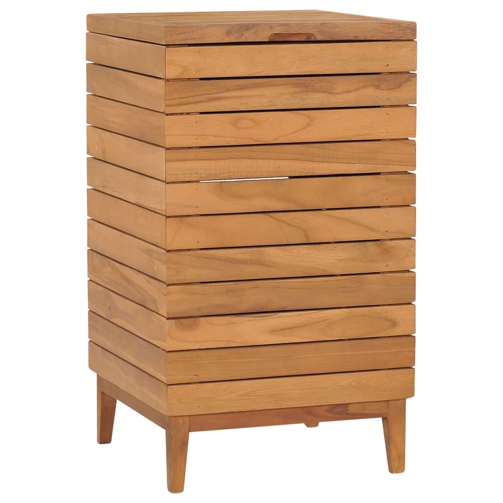 vidaXL Coș de rufe, 40 x 40 x 70 cm, lemn masiv de tec imagine vidaxl.ro