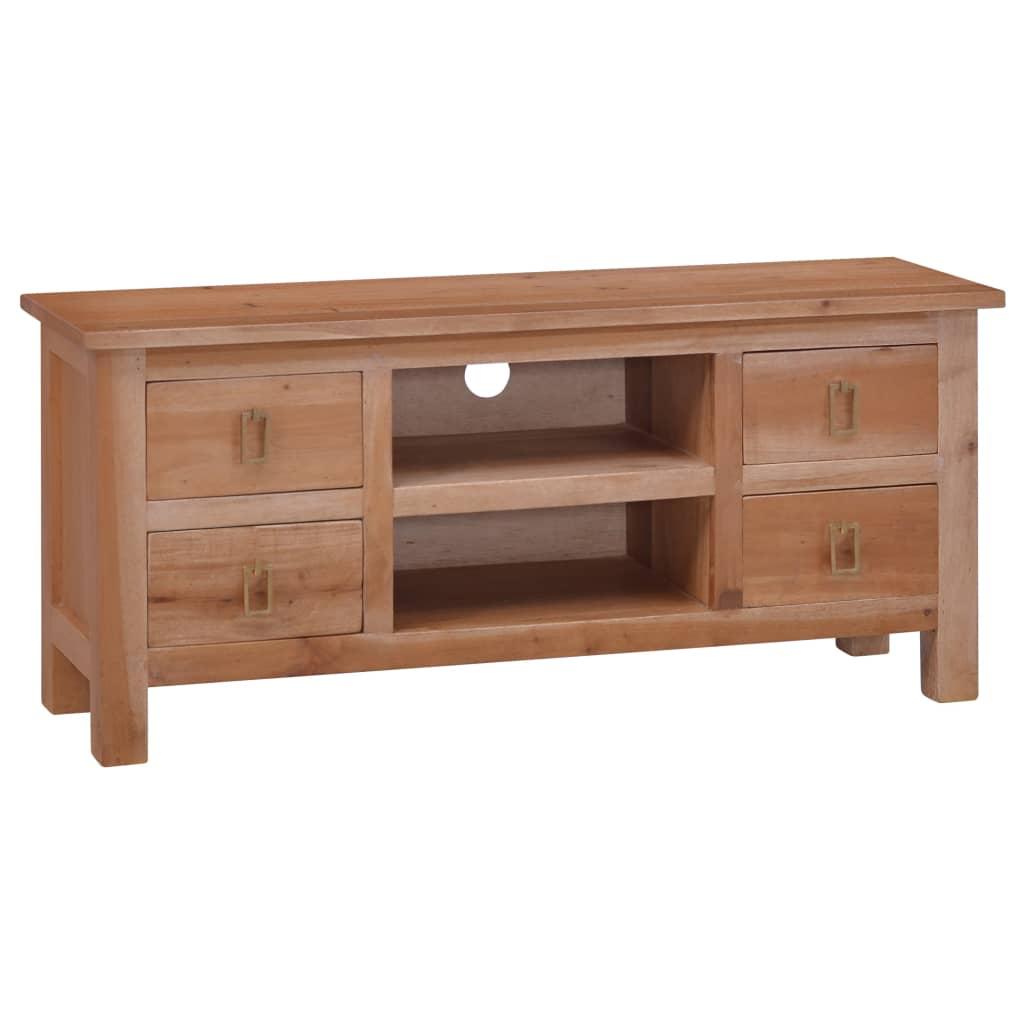 vidaXL Comodă TV, 100 x 30 x 45, lemn masiv de mahon poza vidaxl.ro
