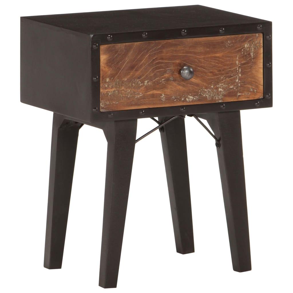 vidaXL Szafka nocna, 40x30x50 cm, lite drewno odzyskane