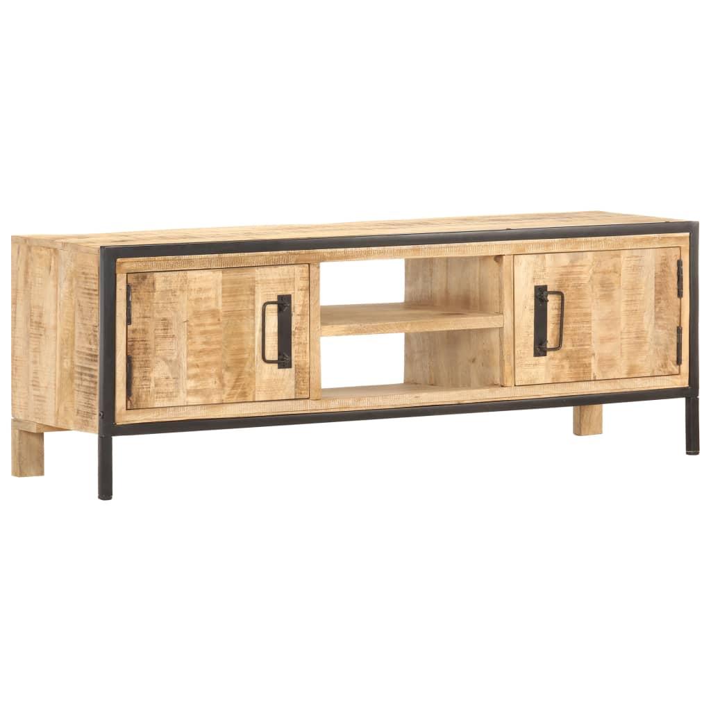 vidaXL Comodă TV, 120 x 30 x 40 cm, lemn de mango nefinisat vidaxl.ro