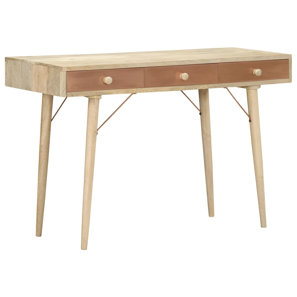 vidaXL Table console 118x45x76 cm Bois de manguier solide