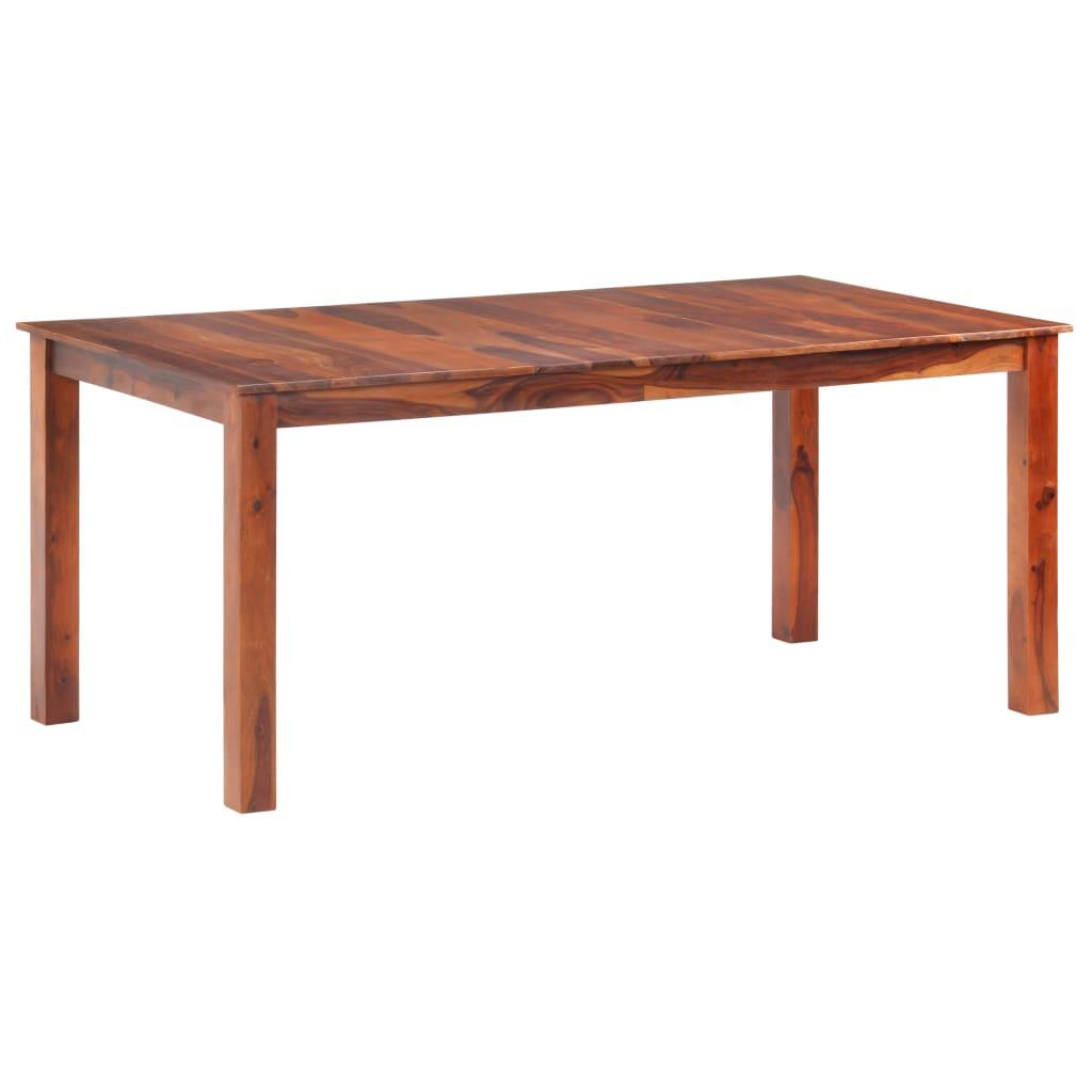 vidaXL Masă de bucătărie, 180x90x76 cm, lemn masiv de sheesham poza 2021 vidaXL