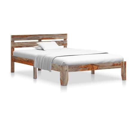 vidaXL Cadru de pat, 120 x 200 cm, lemn masiv de sheesham