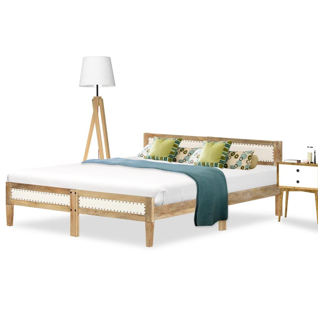 vidaXL Cadru de pat, lemn masiv de mango, 180 cm imagine vidaxl.ro