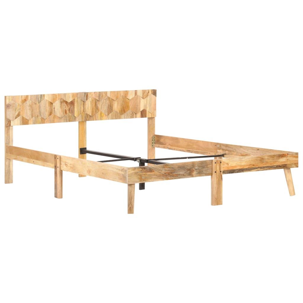 vidaXL Bedframe massief mangohout 160x200 cm
