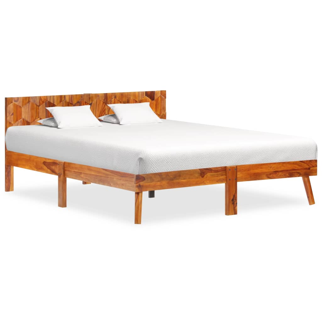 Bedframe massief sheeshamhout 140x200 cm