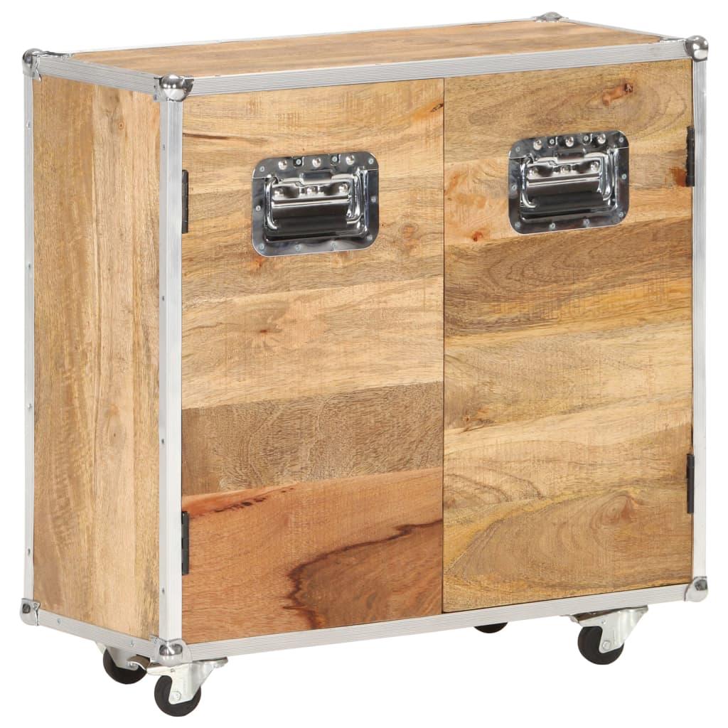vidaXL Servantă cu 2 uși, 70 x 30 x 69 cm, lemn masiv de mango vidaxl.ro