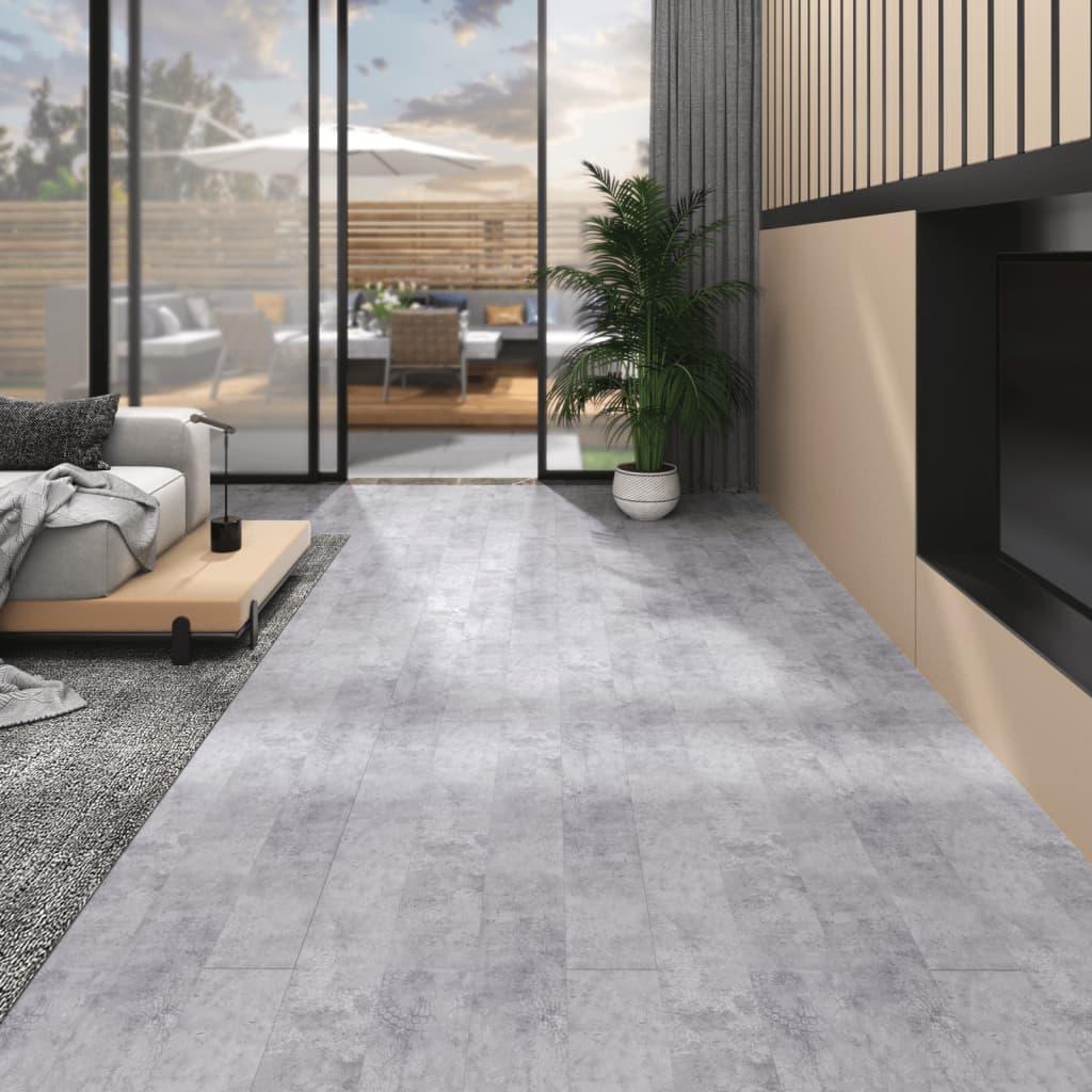 Podlahová krytina PVC 5,02 m² 2 mm samolepící betonová šedá