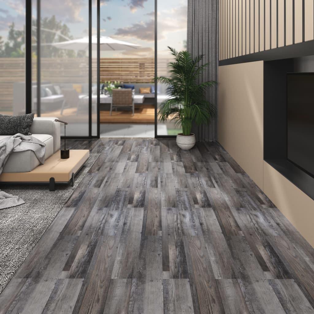 vidaXL Plăci pardoseală autoadezive lemn industrial 5,02 m² PVC 2 mm poza vidaxl.ro