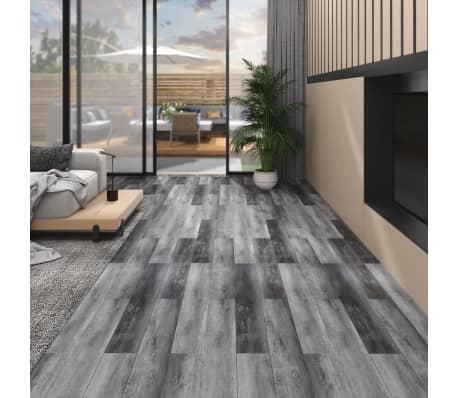 vidaXL PVC Laminat Dielen 5,02m² 2mm Selbstklebend Erdtöne Grau Bodenbelag