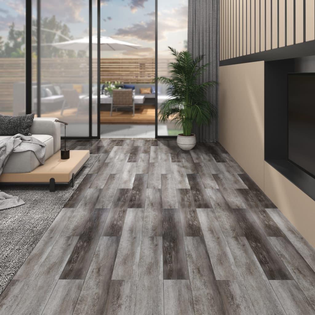 Podlahová krytina PVC 5,02 m² 2 mm samolepicí pruhované dřevo
