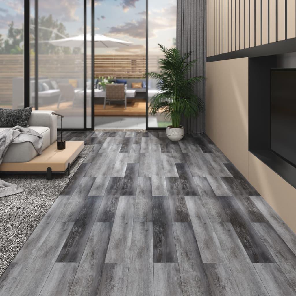 Podlahová krytina PVC 5,26 m² 2 mm lesklá šedá