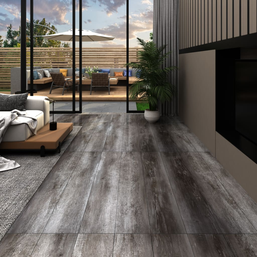 Podlahová krytina PVC 5,26 m² 2 mm pruhované dřevo