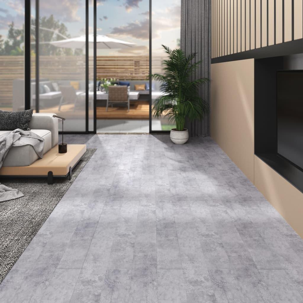 vidaXL Vloerplanken zelfklevend 4,46 m² 3 mm PVC cementgrijs
