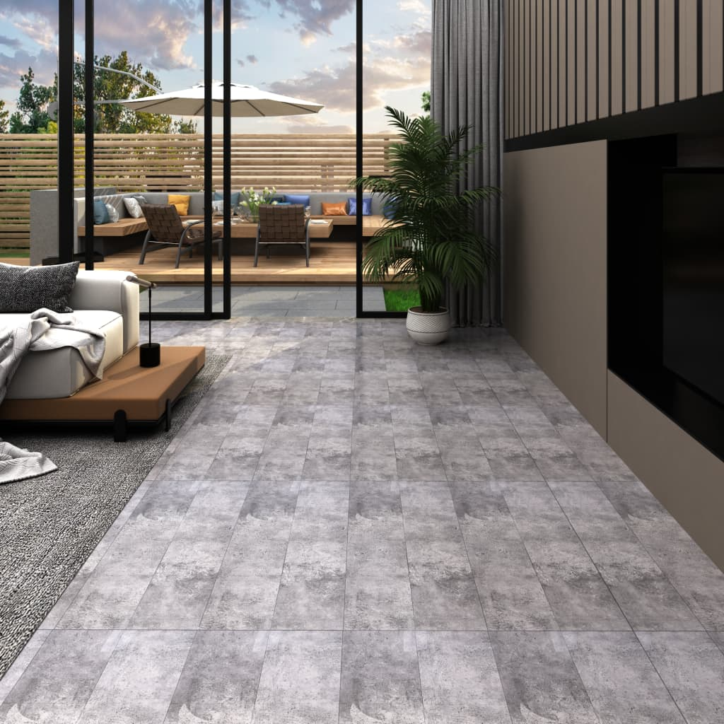 Podlahová krytina PVC 4,46 m² 3 mm samolepicí cementově hnědá