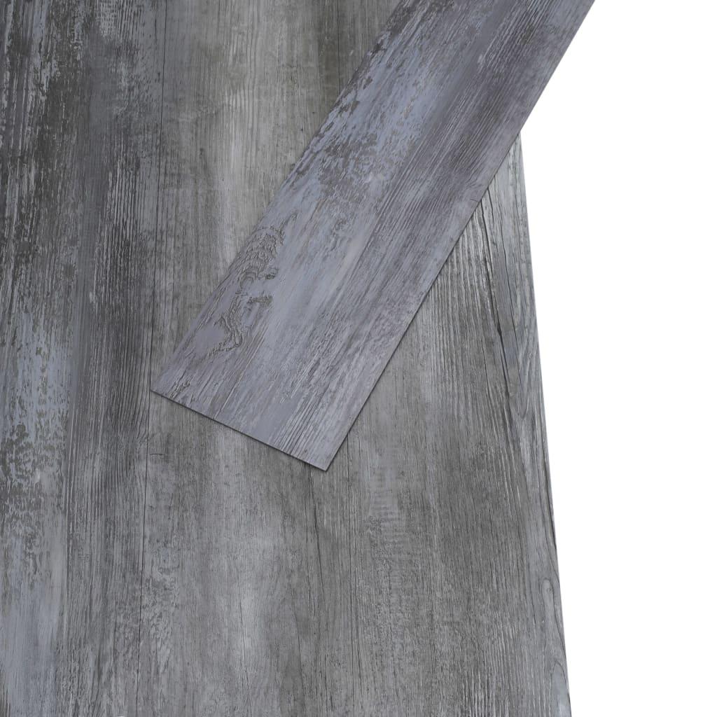 Vloerplanken 4,46 m² 3 mm PVC glanzend grijs