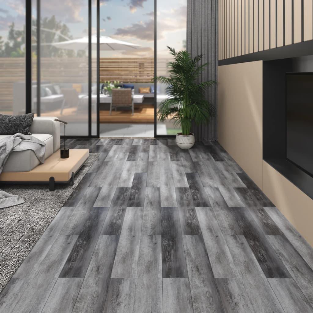 Podlahová krytina PVC 4,46 m² 3 mm lesklá šedá
