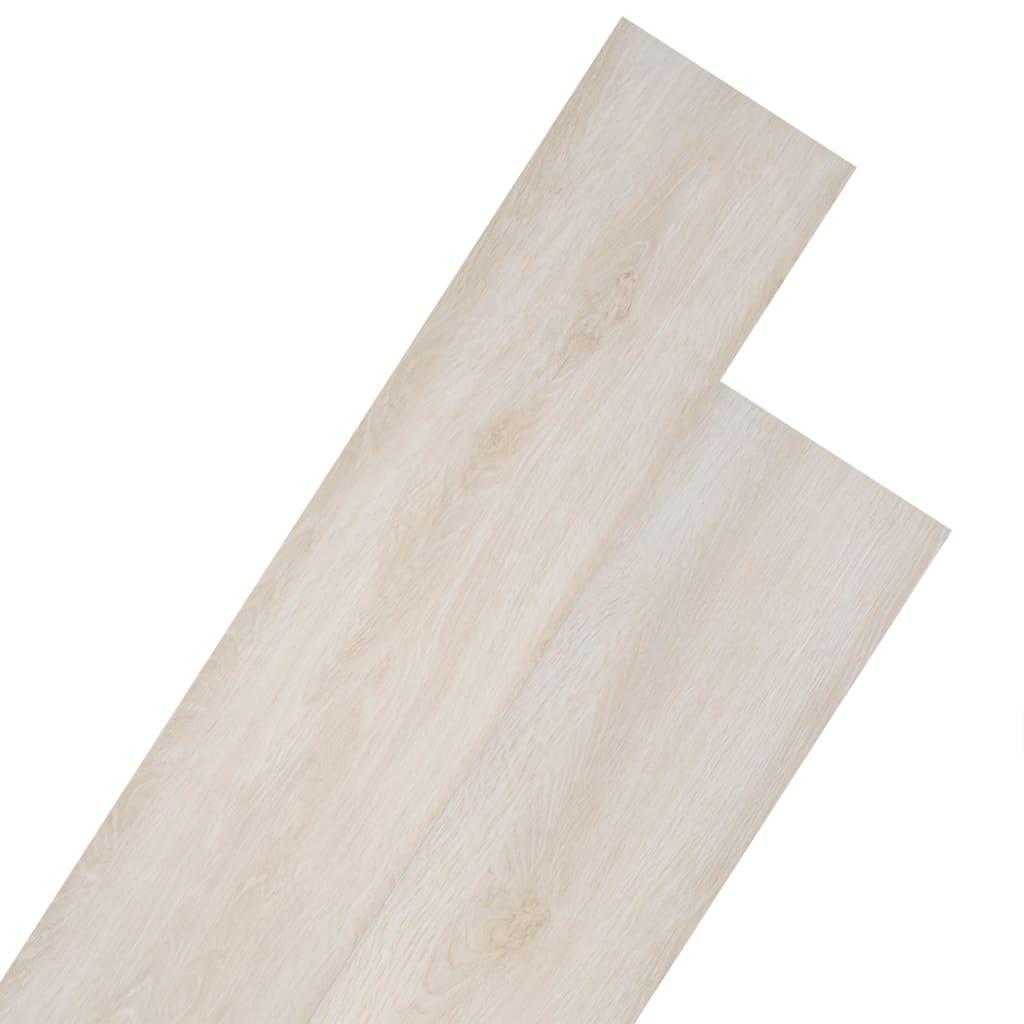 Podlahové desky PVC 4,46 m² 3 mm dubové klasické bílé