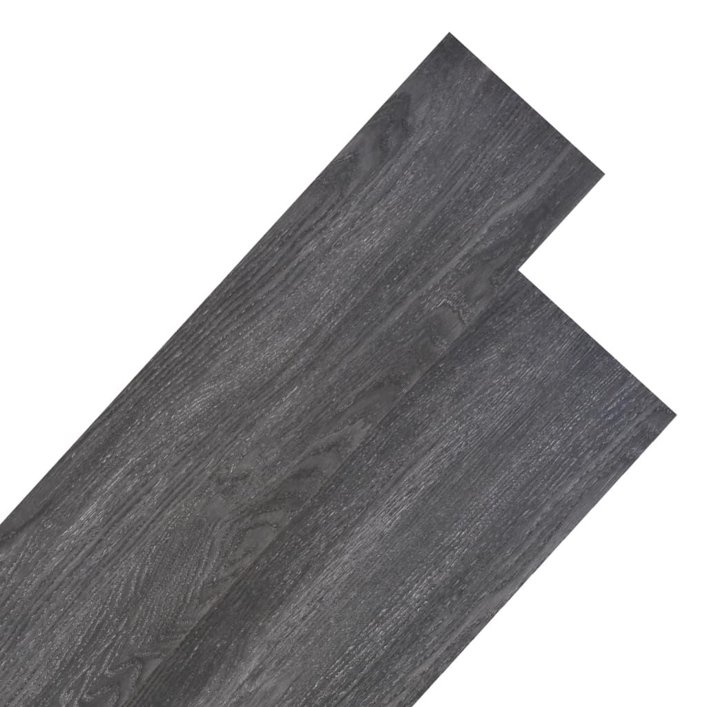 Podlahové desky PVC 4,46 m² 3 mm černé
