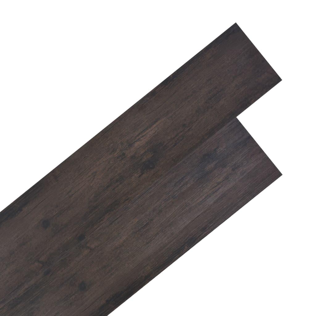Podlahové desky PVC 4,46 m² 3 mm tmavě hnědé
