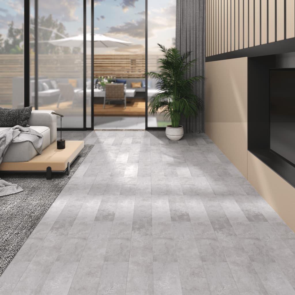 vidaXL Plăci pardoseală autoadezive, gri pământiu, 5,02 m², PVC, 2 mm vidaxl.ro