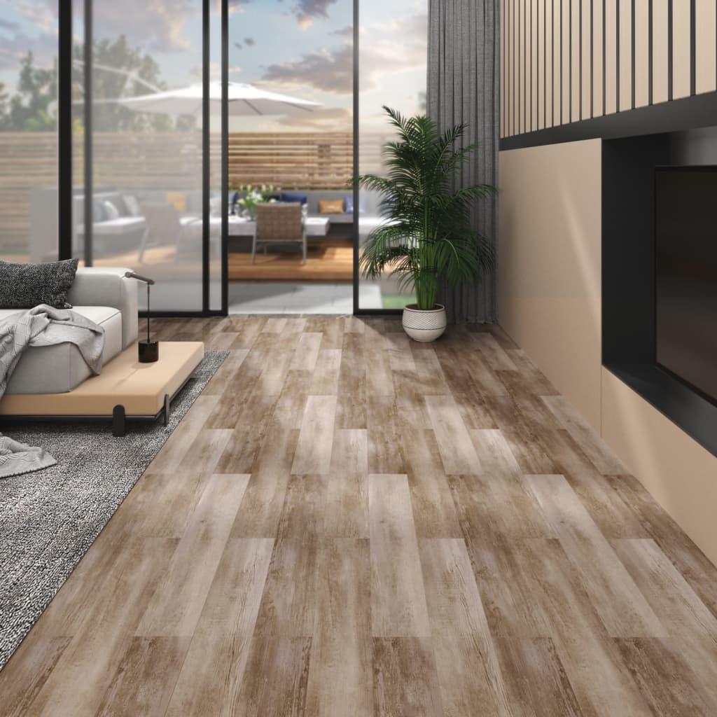 vidaXL Plăci pardoseală autoadezive lemn decolorat 5,02 m² PVC 2 mm vidaxl.ro