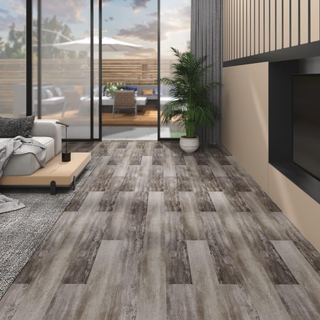 vidaXL Plăci pardoseală autoadezive lemn maro mat 5,02 m² PVC 2 mm vidaxl.ro