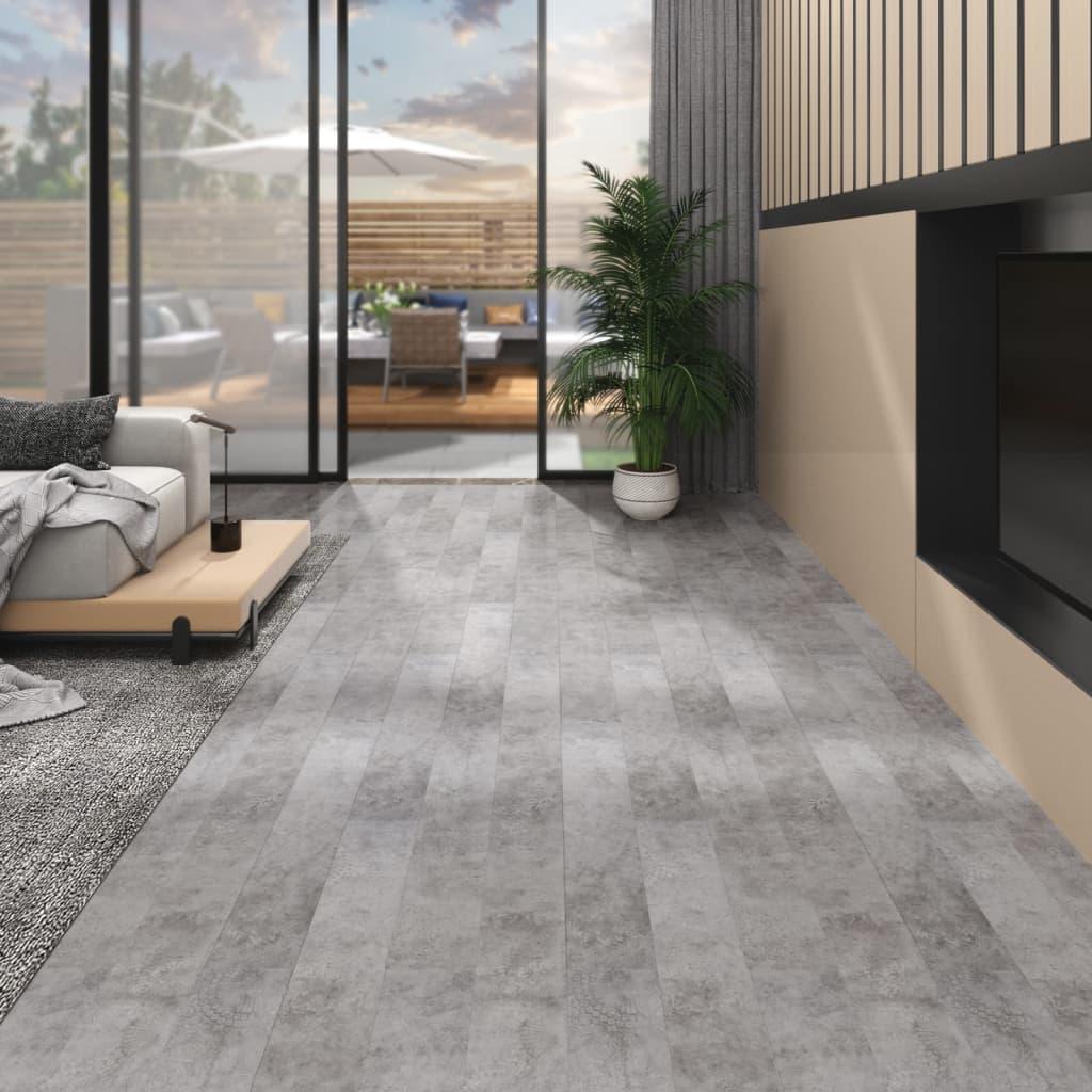 vidaXL Plăci de pardoseală, gri beton, 5,26 m², PVC, 2 mm poza vidaxl.ro
