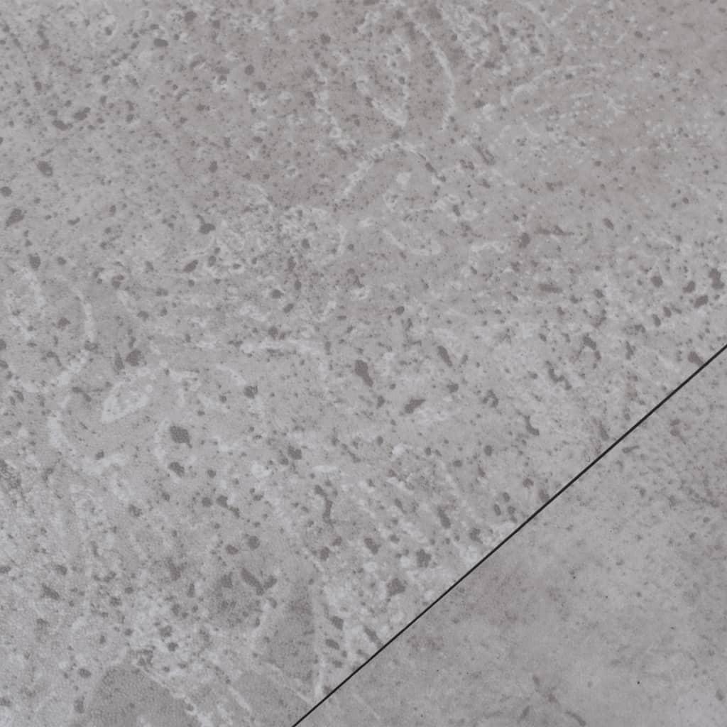 Vloerplanken 5,26 m² 2 mm PVC aardegrijs