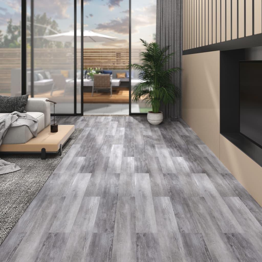 Podlahová krytina PVC 5,26 m² 2 mm matné dřevo šedé