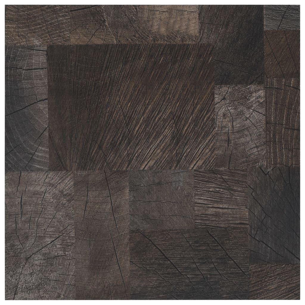 Vloerplanken zelfklevend 5,11 m² PVC houtstructuur bruin