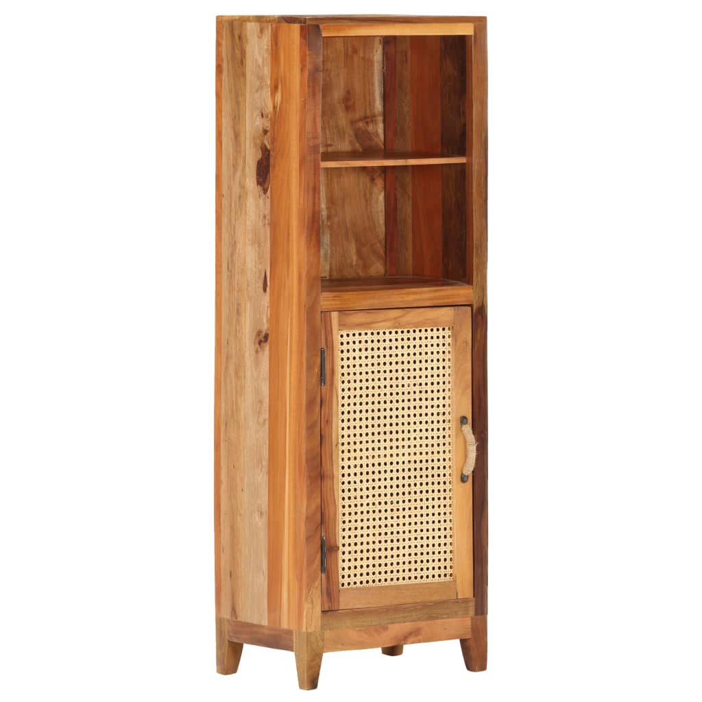 This wooden highboard displays a vintage charm and is the centre of attraction for your interior.