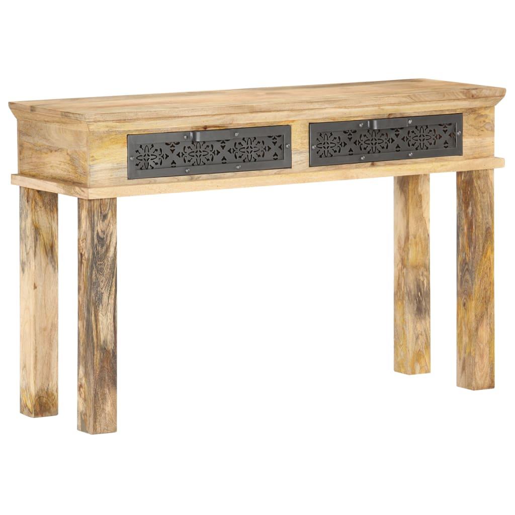 vidaXL Masă consolă cu sertare, 120 x 35 x 75 cm, lemn masiv de mango vidaxl.ro