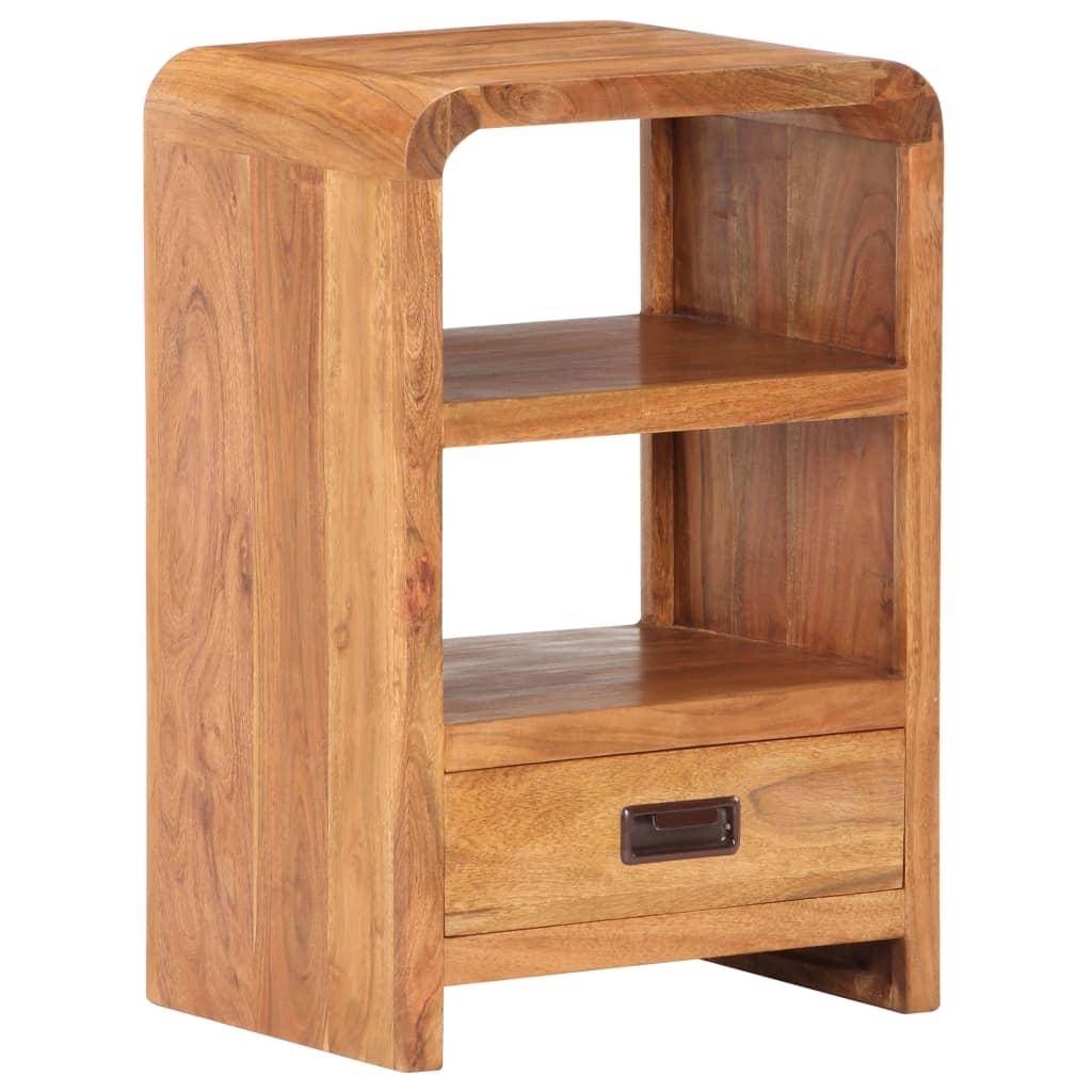vidaXL Noptieră, 40 x 30 x 60 cm, lemn masiv acacia, finisaj sheesham poza vidaxl.ro