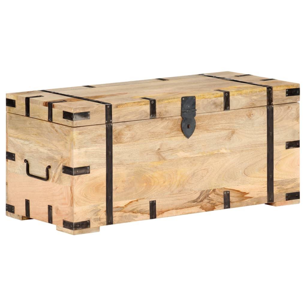 vidaXL Cufăr, 90 x 40 x 40 cm, lemn masiv de mango imagine vidaxl.ro