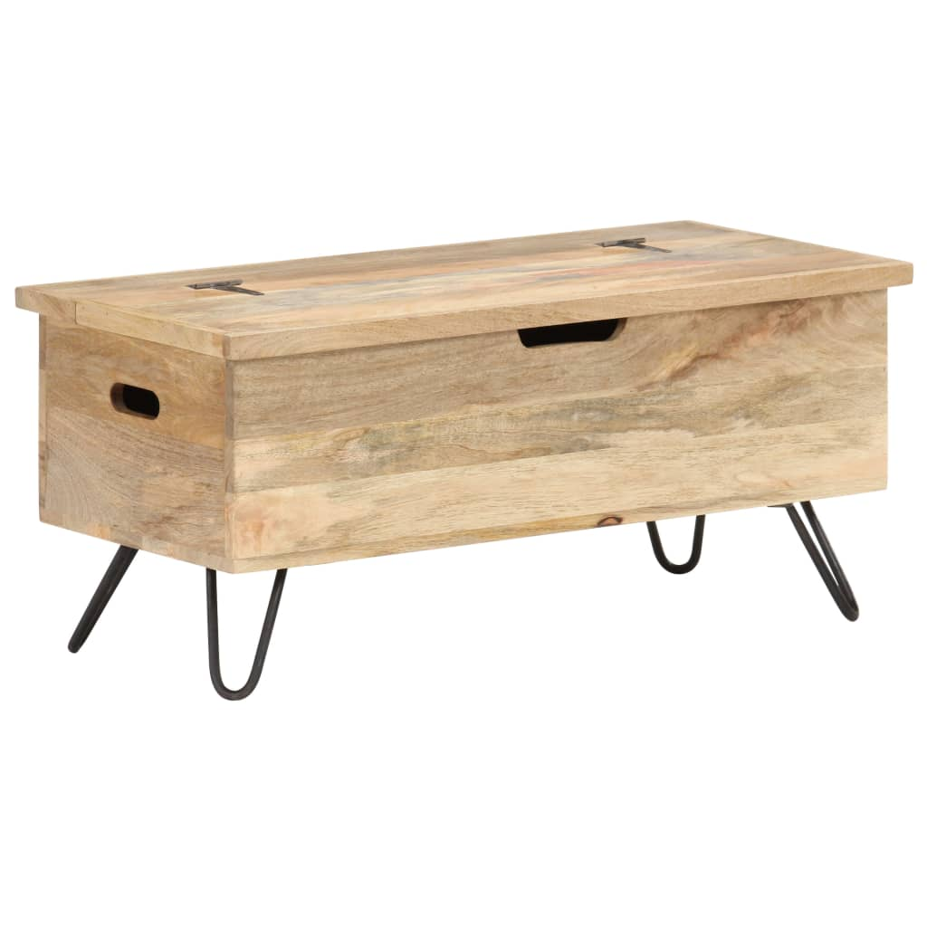 vidaXL Cufăr, 90 x 40 x 45 cm, lemn masiv de mango poza 2021 vidaXL