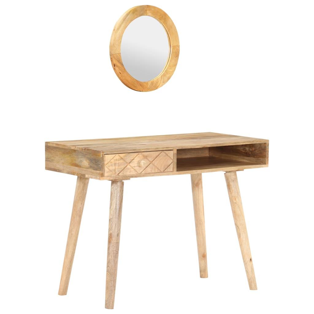 vidaXL Masă de toaletă, 100 x 50 x 76 cm, lemn masiv de mango poza 2021 vidaXL