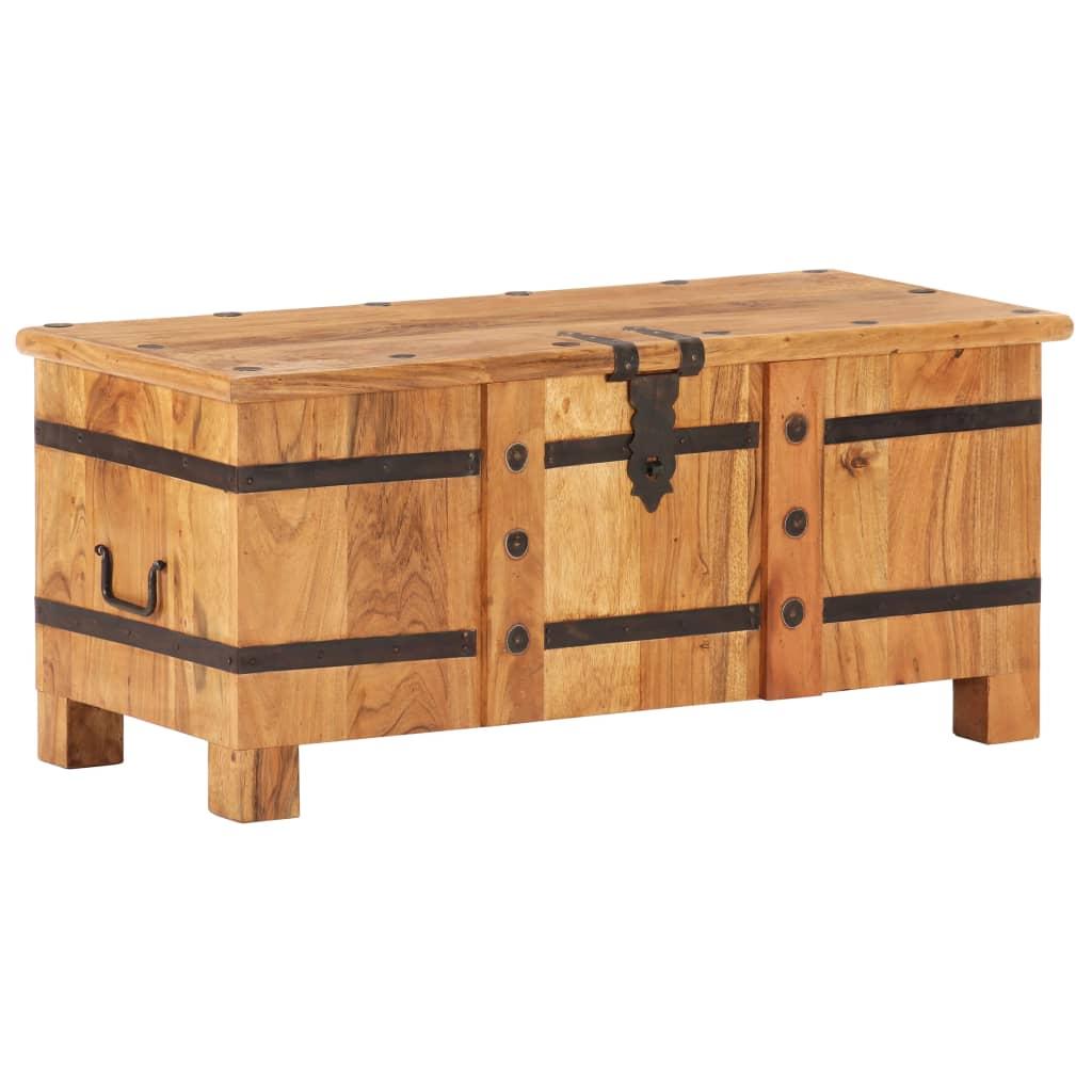 vidaXL Cufăr, 90 x 40 x 40 cm, lemn masiv de acacia imagine vidaxl.ro