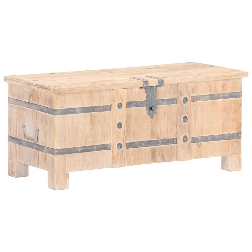 vidaXL Cufăr, 90 x 40 x 40 cm, lemn masiv de acacia poza 2021 vidaXL