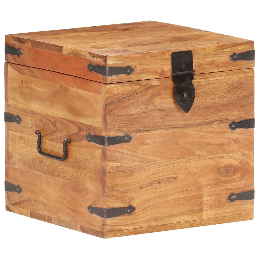vidaXL Cufăr, 40x40x40 cm, lemn masiv de acacia poza 2021 vidaXL